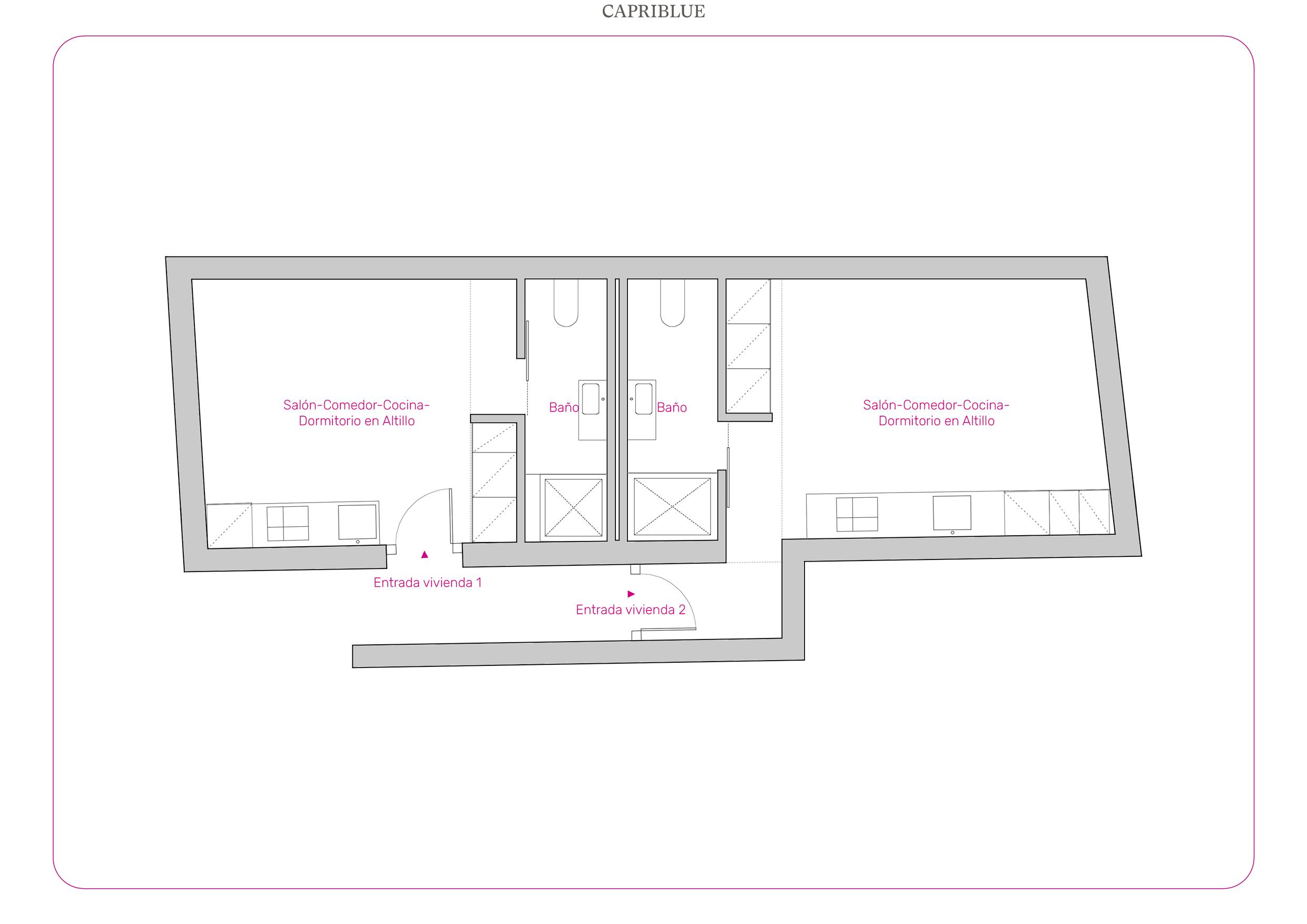 Plano de distribución de un apartamento en el Madrid.